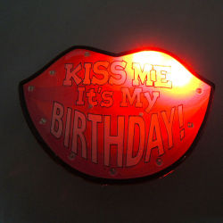 led birthday flashing badges,Party favor ,Party Decorations,Party pins,light pins,party pin,pin party,