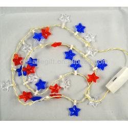 U.S. Independence Day light up necklace