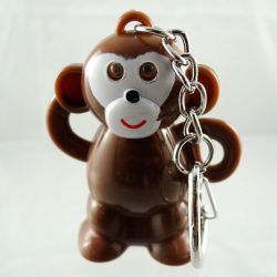plastic monkey keychain,wholesale,all types of keychains,promotional led keychain