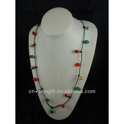 cheap christmas decorations,holiday flashing necklace,Party decorations,party favor,glow lights necklace