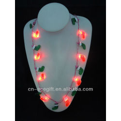 christmas lights necklace lights up,holiday flashing necklace,Party decorations,party favor,glow lights necklace