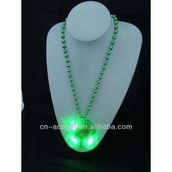 beads mardi gras,holiday flashing necklace,Party decorations,party favor,glow lights necklace