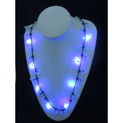 glow in the dark party,holiday flashing necklace,Party decorations,party favor,glow lights necklace