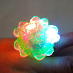 led flashing rubber ring for party favors