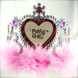 pink birthday tiara