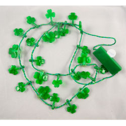 flashing shamrock necklace,Party decorations,party favor,glow lights necklace