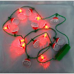 8 led light flashing necklace