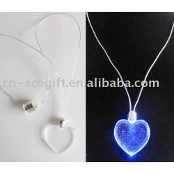 led flashing necklace flahing heart necklace