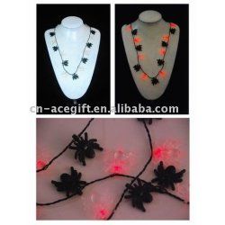 LED spider Flashing necklace