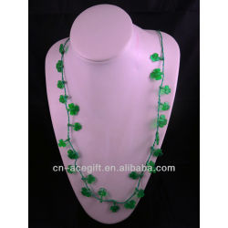 mardi gra beads,holiday flashing necklace,Party decorations,party favor,glow lights necklace