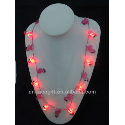 flashng Flamingo necklace,holiday flashing necklace,Party decorations,party favor,glow lights necklace