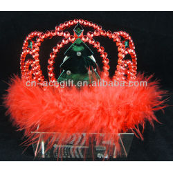 plastic flashing led tiara for party