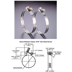 Large Stainless Steel Hose Clamps