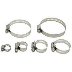 4 piece Quadra Lock worm drive clamps