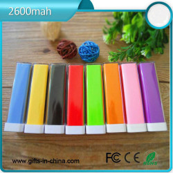 Free samples 1800mah to 2600mah lipstick power bank