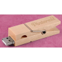Free Sample, Clip Shape Wood USB Flash Memory