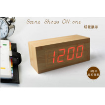 Wholesale ZJ-001K Red Light  Hight Quality MDF Digital Wooden Clcok