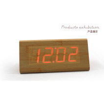 Wholesale ZJ-001SK Red Light  Hight Quality MDF Digital Wooden Clcok