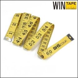 150cm/60inch Yellow Soft Tailor Measuring Tape With You Logo
