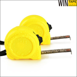 2m custom printed perforated stainless steel elastic contractor measuring tape