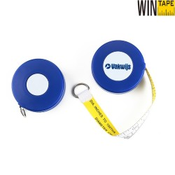 White And Yellow Round Retractable Tree Pipe Outside Diameter Engineer Multi Measure Tape