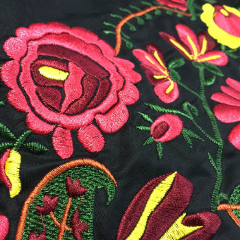 multi color tribal embroidered fabrics