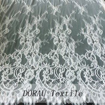Wedding dress white lace fabric