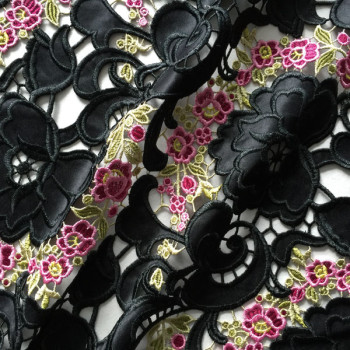 laser-hollowed floral new embroidery fabric
