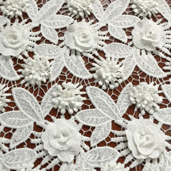 (June, 2017) New 3D applique lace fabric
