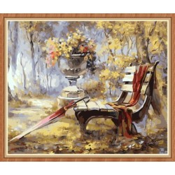wall murals digital oil painting with wooden frame GX7816
