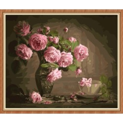 wall murals flower diy canvas oil painting by numbers GX7814
