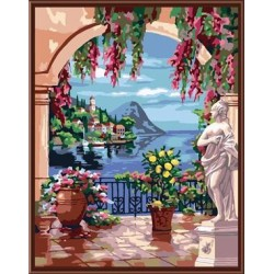 DIY digital acrylic oil canvas painting by numbers with gift box packing GX6015