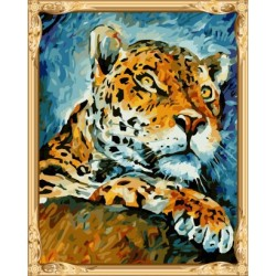 GX7434 abstract hot photo tiger diy oil painting by numbers