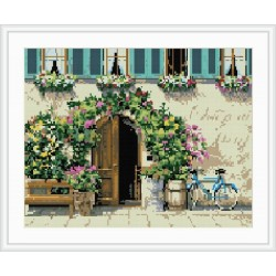 flower house mosaic diamond painting home decor GZ078