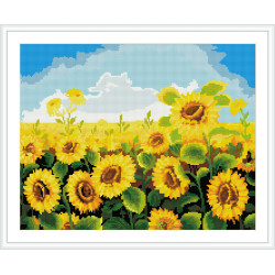 Home decoration sunflower DIY diamond mosaic painting with wood base