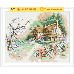 Good quality GZ175 landscape 2.5mm full drill 3D diamond painting with wood base