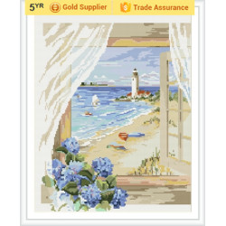 YIWU OEM GZ182 paintboy landscape 2.5mm 5D diamond painting by number