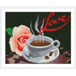 GZ125 OEM paintboy coffee with flower diamond painting with number for house decor