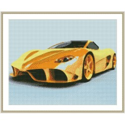 GZ130 famous car framed canvas diamond painting sets