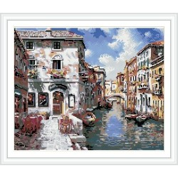 GZ224 landscape diy full pattern diamond painting with Russia design packing