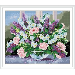 GZ226 hot photo flower diamond wall art for gift use