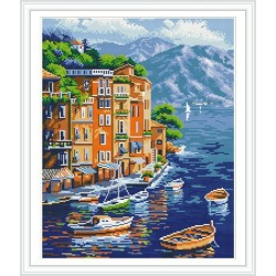 GZ225 wall art seascape handcrafts diamond painting with numbers