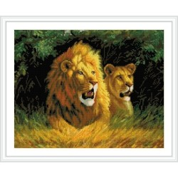 GZ233 canvs lion diy cristal diamond painting by numbers with wooden frame