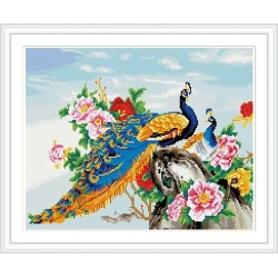 GZ281yiwu art suppliers peacock round diamond painting for wall decoration