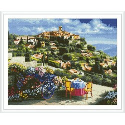 GZ293 landscape embroidery kit diamond painting yiwu art suppliers
