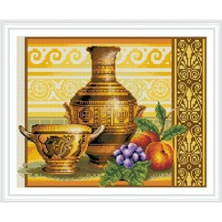 GZ287 still life round diamond painting by numbers on stretched canvas