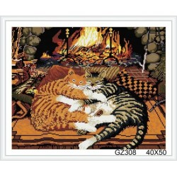 paint boy diamond painting with cat photos GZ308