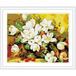 GZ285 flower diamond cross stitch kits for living room decoration