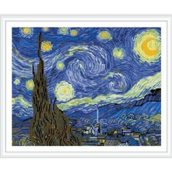 GZ304 abstract Starry Night resin diy diamond painting for wall decor