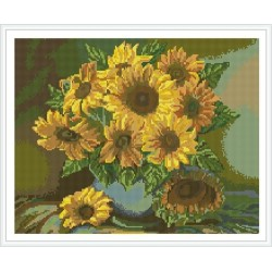 Asstract girasol bordado bricolaje pintura diamante kit GZ340